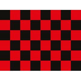 """שטיח PVC """"דגל מרוצים"""" - אדום"""