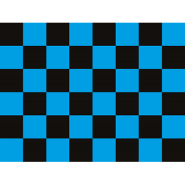 """שטיח PVC """"דגל מרוצים"""" - כחול"""
