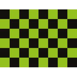 """שטיח PVC """"דגל מרוצים"""" - ירוק"""
