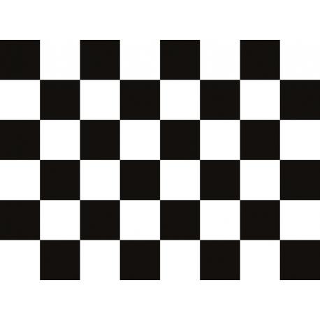 """שטיח """"דגל מרוצים"""" - שחור לבן 60 על 80 ס""""מ"""