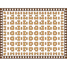 """שטיח """"בייגלה גיאומטרי"""" 60 על 80 ס""""מ"""