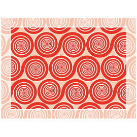 שטיח PVC שמיניות ספירלה אדום אהבה