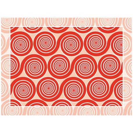 שטיח שמיניות ספירלה אדום אהבה