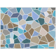 """שטיח """"אבני פסיספס"""" - צבעי מים 60 על 80 ס""""מ"""