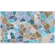 """שטיח """"אבני פסיספס"""" - צבעי מים 70 על 120 ס""""מ"""
