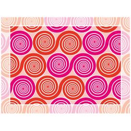 שטיח PVC שמיניות ספירלה אדום וורוד אהבה