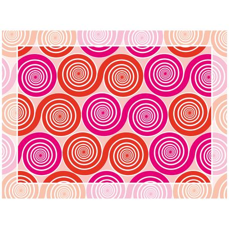 שטיח שמיניות ספירלה אדום וורוד אהבה