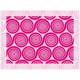 שטיח PVC שמיניות ספירלה ורוד אהבה