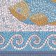 "שטיח PVC ""פסיספס דגים"" - בהיר - תקריב"