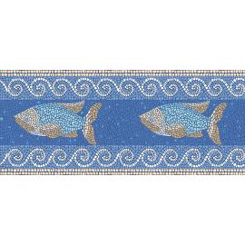 "ראנר PVC ""פסיספס דגים"" - כחול"