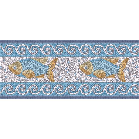 """ראנר PVC """"פסיספס דגים"""" - בהיר"""