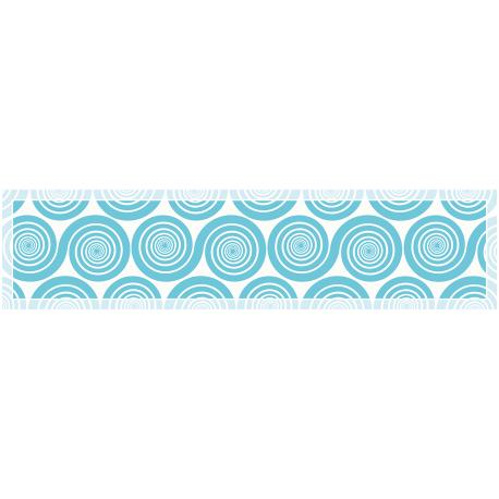 """ראנר מעוצב לשולחן """"שמיניות ספירלה"""" - כחול"""