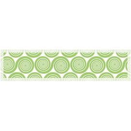 """ראנר PVC מעוצב לשולחן """"שמיניות ספירלה"""" - ירוק"""