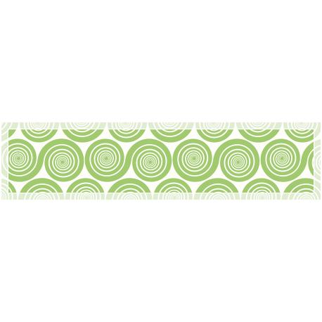 """ראנר מעוצב לשולחן """"שמיניות ספירלה"""" - ירוק"""