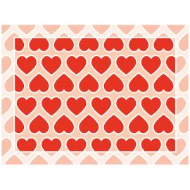 שטיח PVC לבבות אהבה אדום