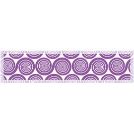 """ראנר PVC מעוצב לשולחן """"שמיניות ספירלה"""" - סגול"""
