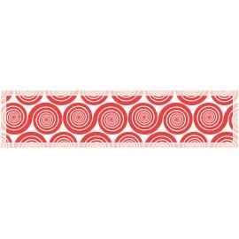 """ראנר PVC מעוצב לשולחן """"שמיניות ספירלה"""" - אדום"""