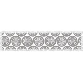 """ראנר PVC מעוצב לשולחן """"שמיניות ספירלה"""" - אפור"""