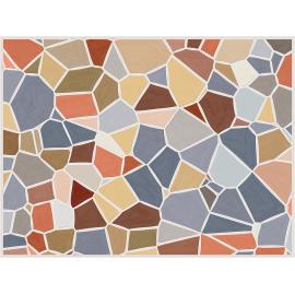 """שטיח """"אבני פסיספס"""" - אבן טבעית 60 על 80 ס""""מ"""