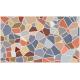 """שטיח """"אבני פסיספס"""" - אבן טבעית 70 על 120 ס""""מ"""