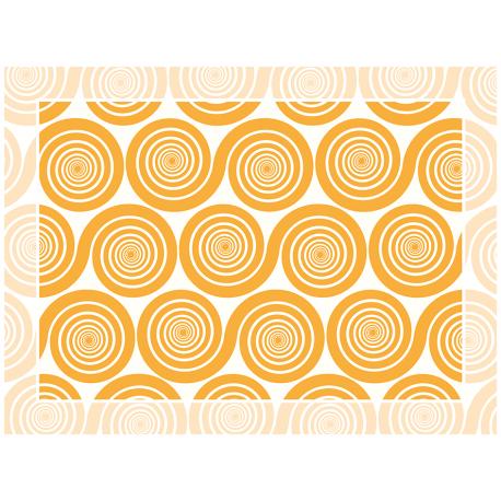 """שטיח """"שמיניות ספירלה"""" - כתום 60 על 80 ס""""מ"""