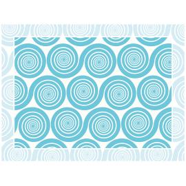 """שטיח PVC """"שמיניות ספירלה"""" - כחול"""