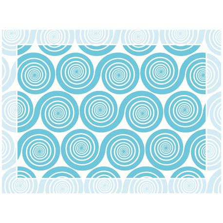 """שטיח """"שמיניות ספירלה"""" - כחול 60 על 80 ס""""מ"""