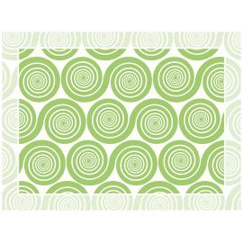 """שטיח PVC """"שמיניות ספירלה"""" - ירוק"""