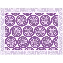 """שטיח PVC """"שמיניות ספירלה"""" - סגול"""