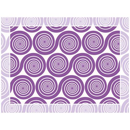 """שטיח """"שמיניות ספירלה"""" - סגול 60 על 80 ס""""מ"""