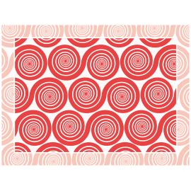 """שטיח PVC """"שמיניות ספירלה"""" - אדום"""