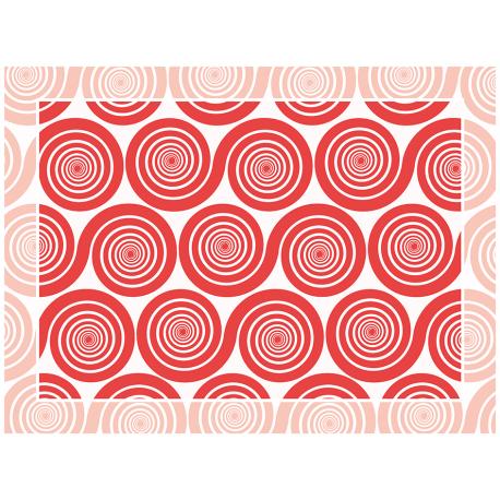 """שטיח """"שמיניות ספירלה"""" - אדום 60 על 80 ס""""מ"""