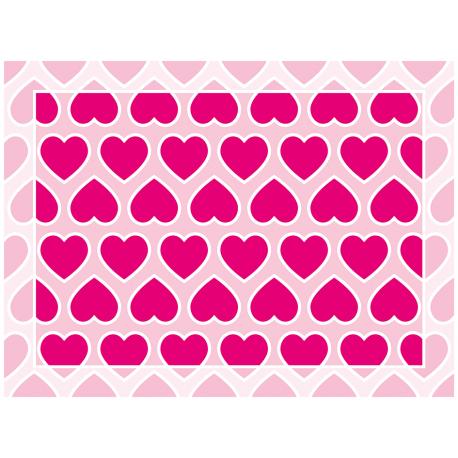 שטיח PVC לבבות אהבה ורוד