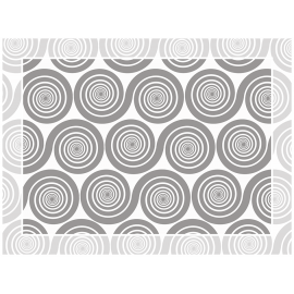 """שטיח PVC """"שמיניות ספירלה"""" - אפור"""