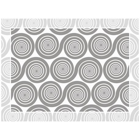 """שטיח """"שמיניות ספירלה"""" - אפור 60 על 80 ס""""מ"""