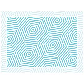 """שטיח PVC """"משושים"""" - כחול"""