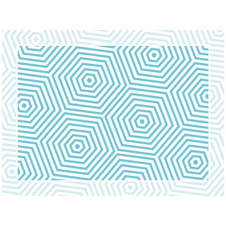 """שטיח """"משושים"""" - כחול 60 על 80 ס""""מ"""