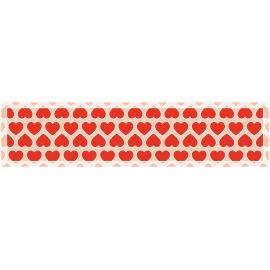 ראנר PVC לבבות אהבה אדום