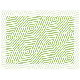 """שטיח PVC """"משושים"""" - ירוק"""