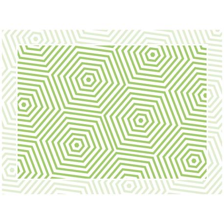 """שטיח """"משושים"""" - ירוק 60 על 80 ס""""מ"""