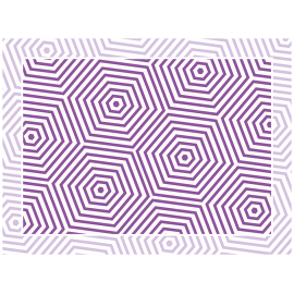 """שטיח PVC """"משושים"""" - סגול"""