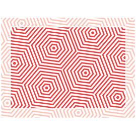 """שטיח PVC """"משושים"""" - אדום"""