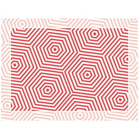"""שטיח """"משושים"""" - אדום 60 על 80 ס""""מ"""