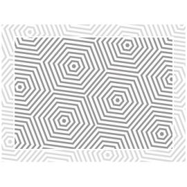 """שטיח PVC """"משושים"""" - אפור"""