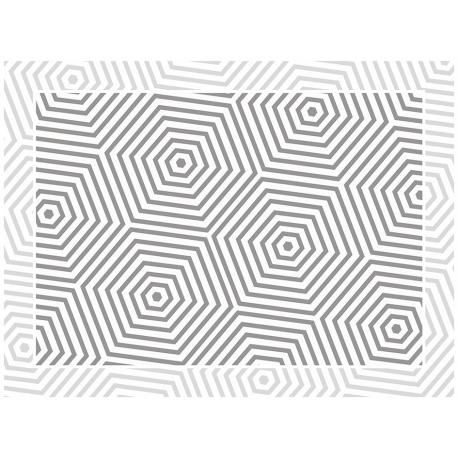 """שטיח """"משושים"""" - אפור 60 על 80 ס""""מ"""