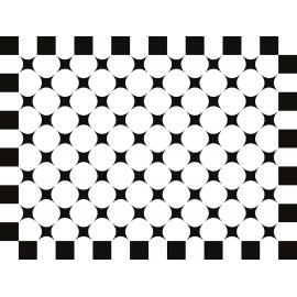 """שטיח """"פיצפוצי משבצות"""" - שחור לבן 60 על 80 ס""""מ"""