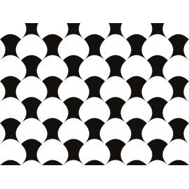 """שטיח """"עור הדג"""" - שחור לבן 60 על 80 ס""""מ"""
