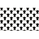 """שטיח """"עור הדג"""" - שחור לבן 70 על 120 ס""""מ"""