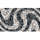 """שטיח """"פסיפס גיאומטרי"""" - גווני שחור 70 על 120 ס""""מ"""