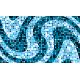 """שטיח """"פסיפס גיאומטרי"""" - גווני כחול 70 על 120 ס""""מ"""